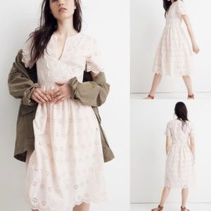 Madewell Scalloped Eyelet Midi Dress
